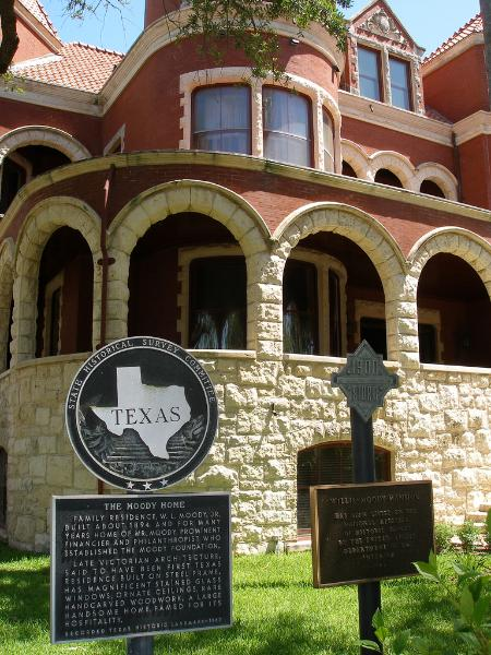 Moody Mansion Historical Markers